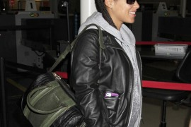 Alicia Keys Travels with a Multi-Texture Givenchy Bag