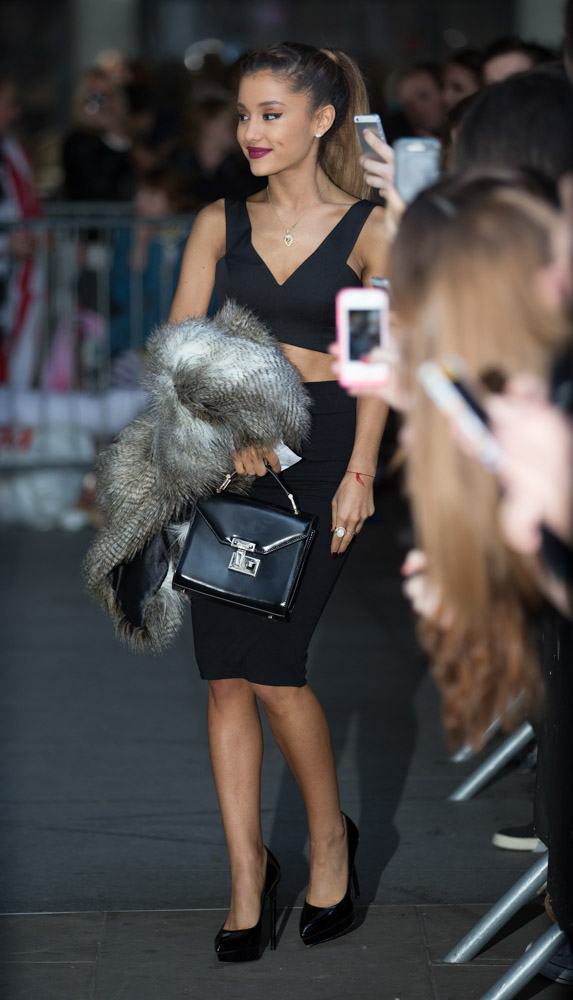 Ariana Grande Does The London Press Rounds With Rebecca