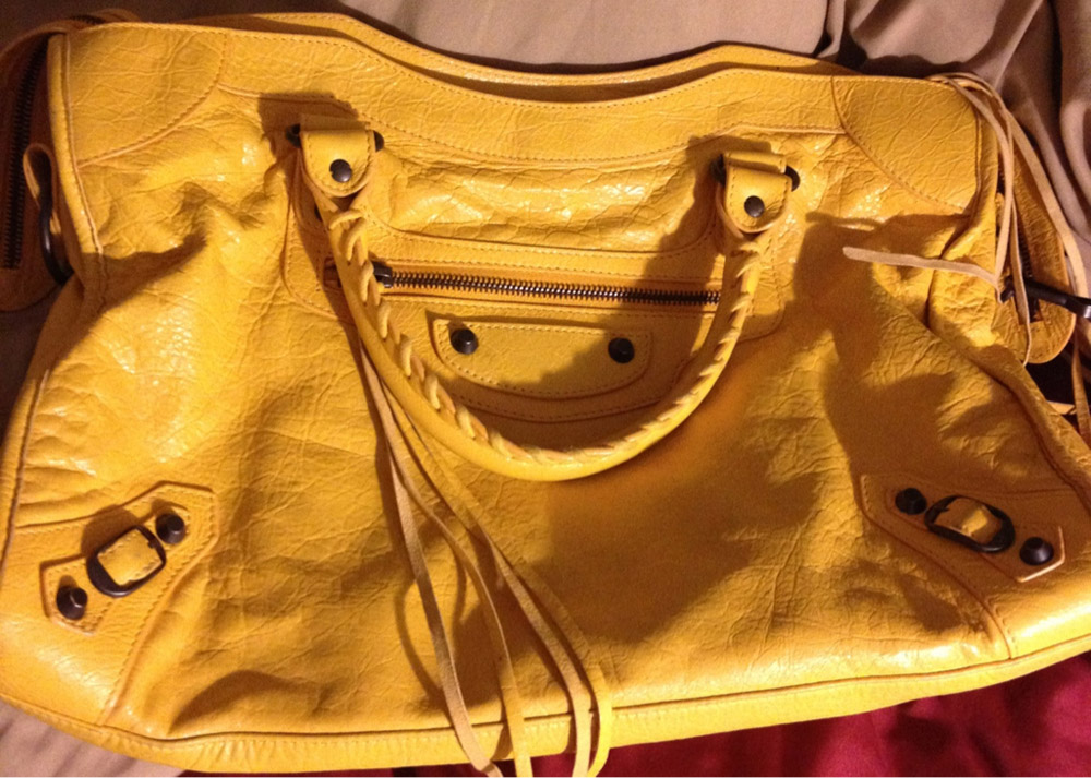 Balenciaga City Bag Yellow