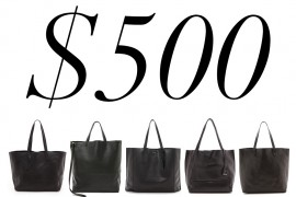 5 Under $500: Light, Roomy Black Totes