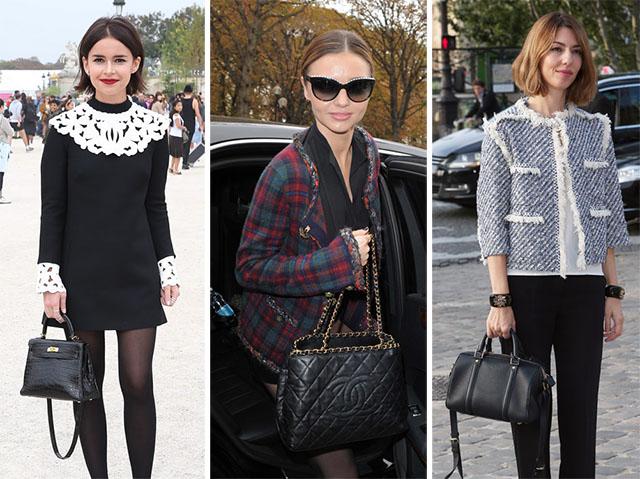 Celebrity Handbags Paris Fashion Week