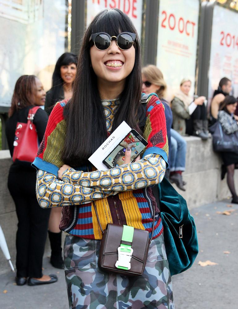 Celebrity Handbags Paris Fashion Week Spring 2015-4