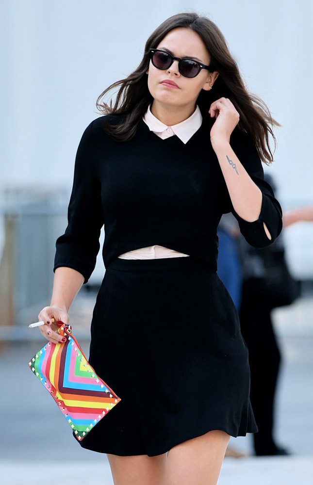 Celebrity Handbags Paris Fashion Week Spring 2015-46
