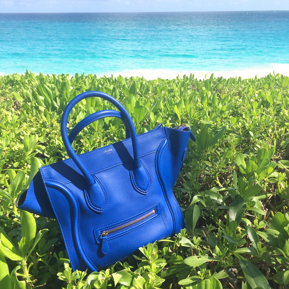 Celine Cobalt Blue Luggage Tote