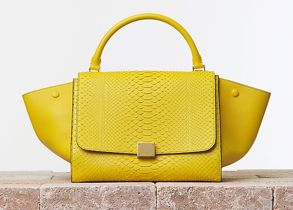 Celine Trapeze in Yellow Python