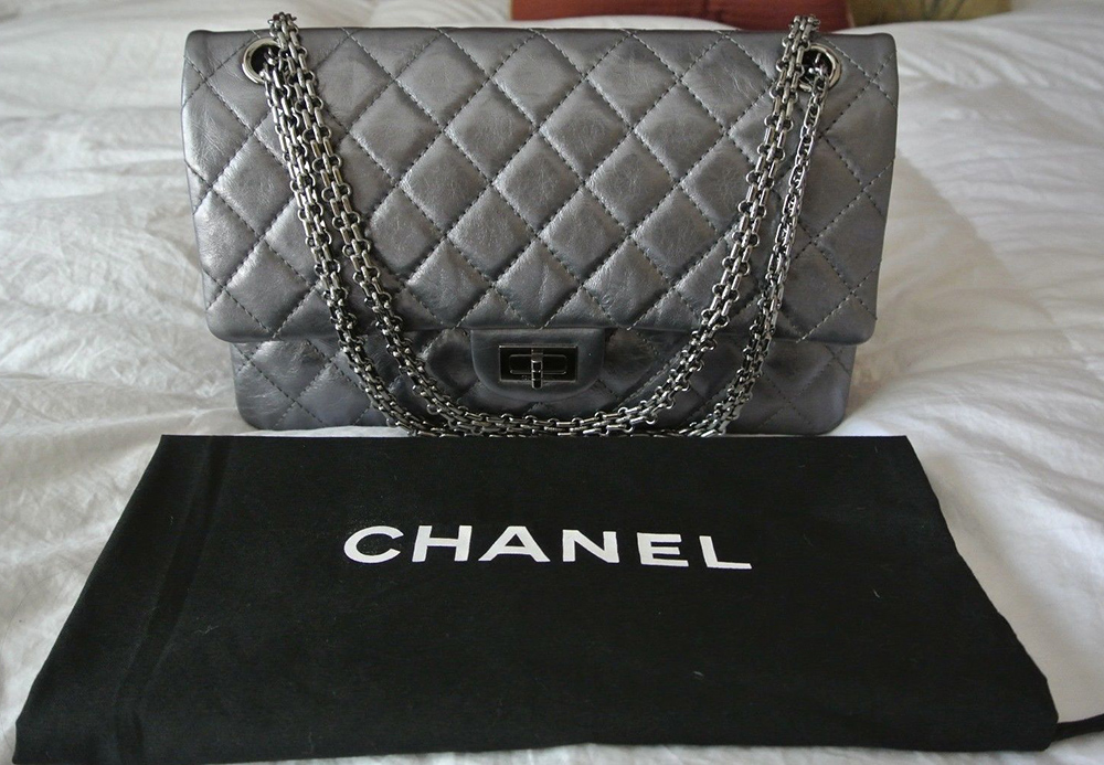 Chanel Reissue 2.55 Flap Bag Silver