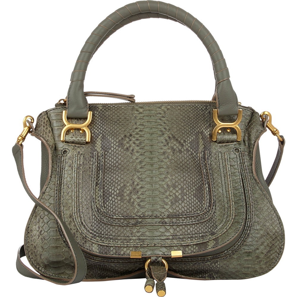 Chloe Marcie Python Bag