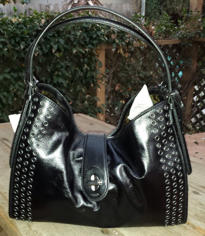 Coach Bag with Rivets