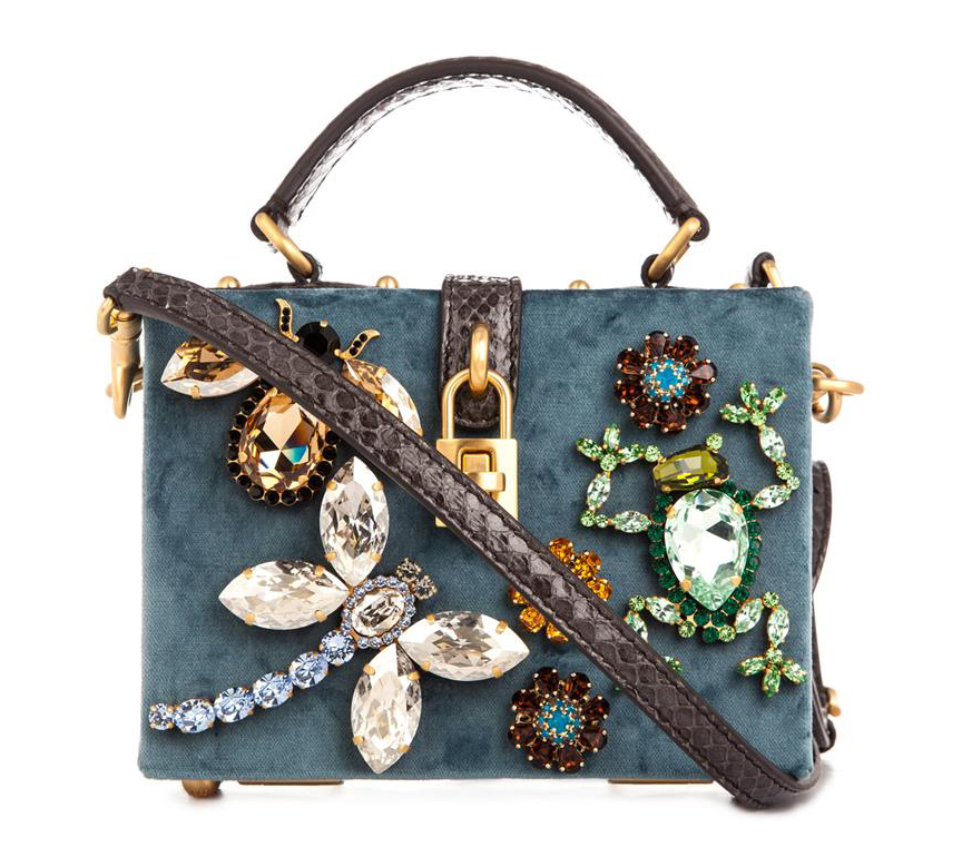 Dolce & Gabbana Miss Dolce Velvet and Crystal Clutch