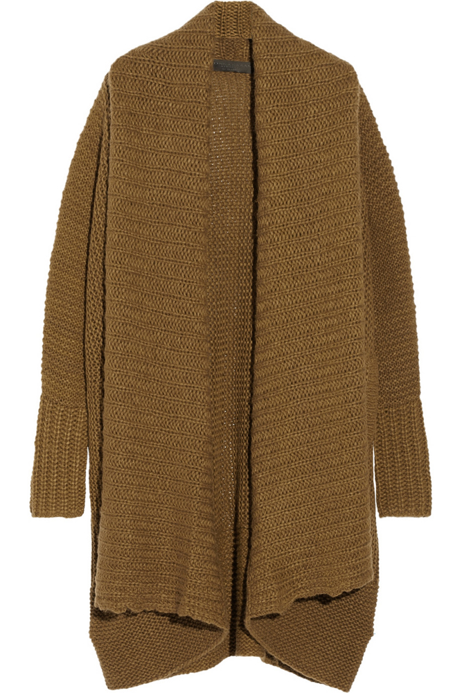 Donna Karan Oversized Alpaca, Silk, Cashmere and Wool-Blend Cardigan