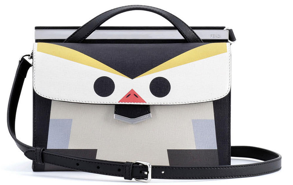 Fendi Mini Demi Jour Bird Bag Grey