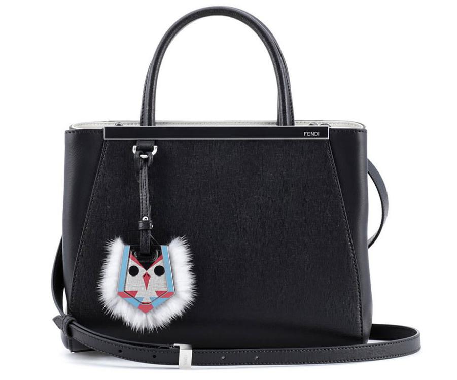 Fendi Petite 2Jours Fur-Trimmed Bag