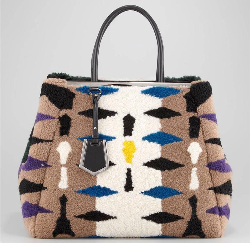 Fendi Shearling 2Jours Bag