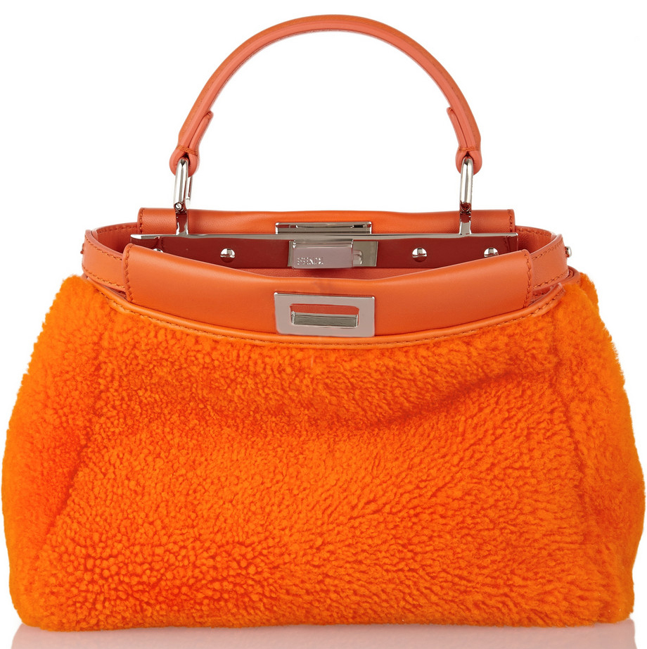 Fendi Shearling Peekaboo Bag