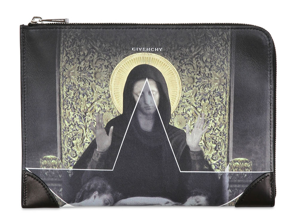 Givenchy Madonna and Flower Printed Pouch