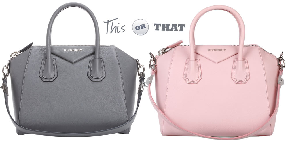 e4b5f2cf34 Grey or Pink  Help Me Pick a Givenchy Antigona - PurseBlog