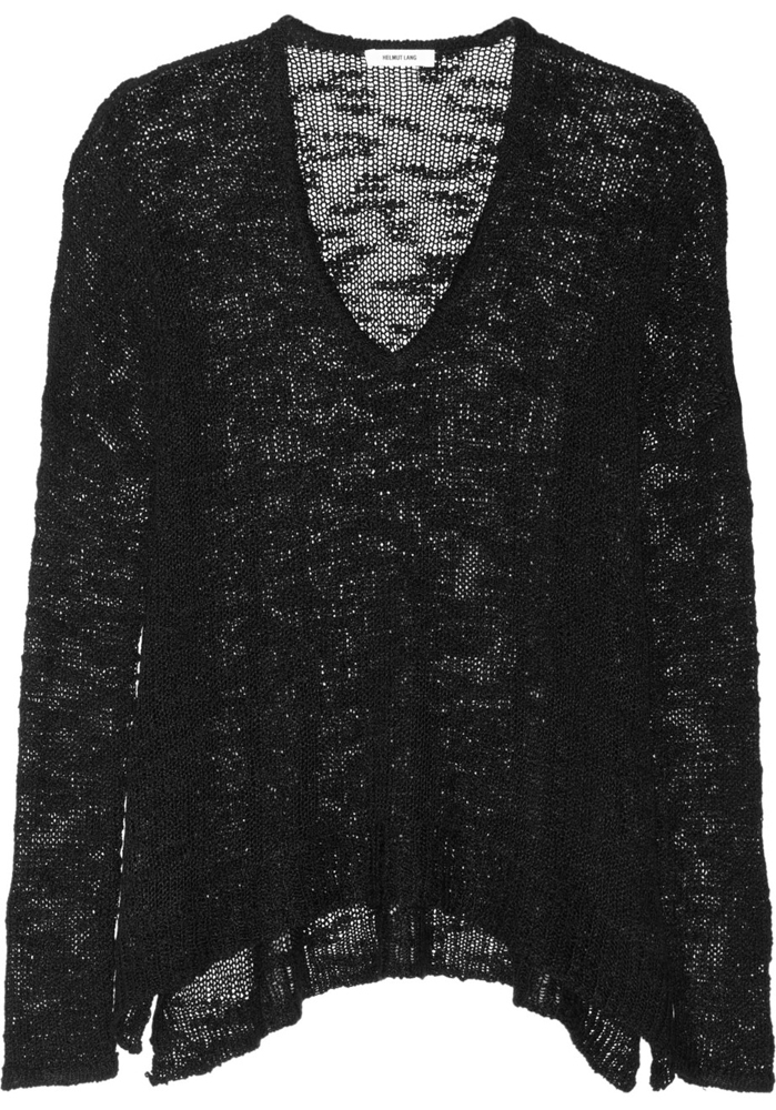 Helmut Lang Open Knit Silk Sweater