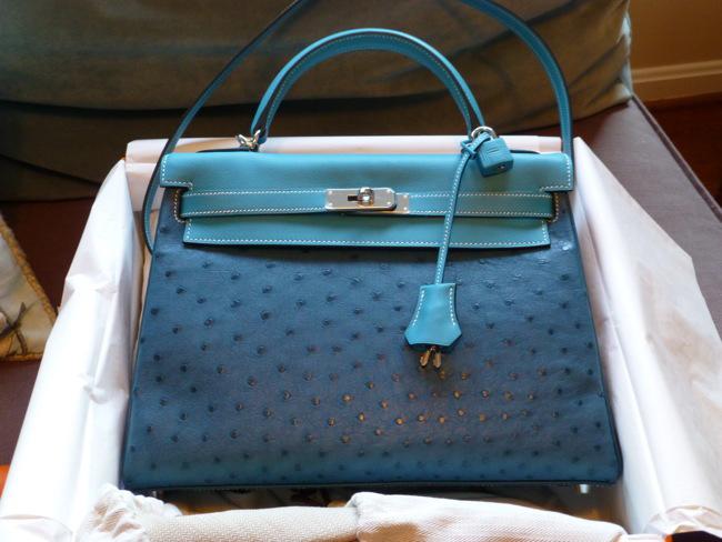 Hermes Blue Kelly