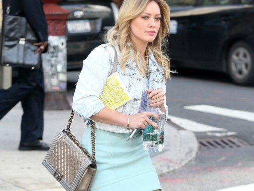 Hilary Duff Chanel Boy Bag