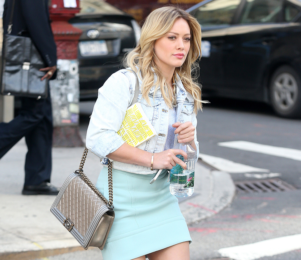 Hilary Duff Spotted On Set With Chanel Bag Purseblog