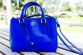 National Handbag Day Spotlight: Tory Burch Robinson Micro Double Zip Tote