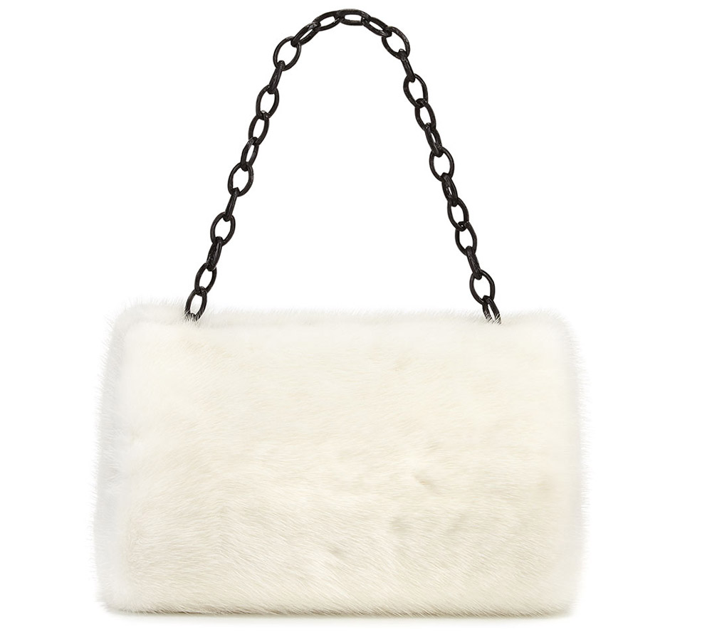 Nancy Gonzalez Mink Frame Clutch