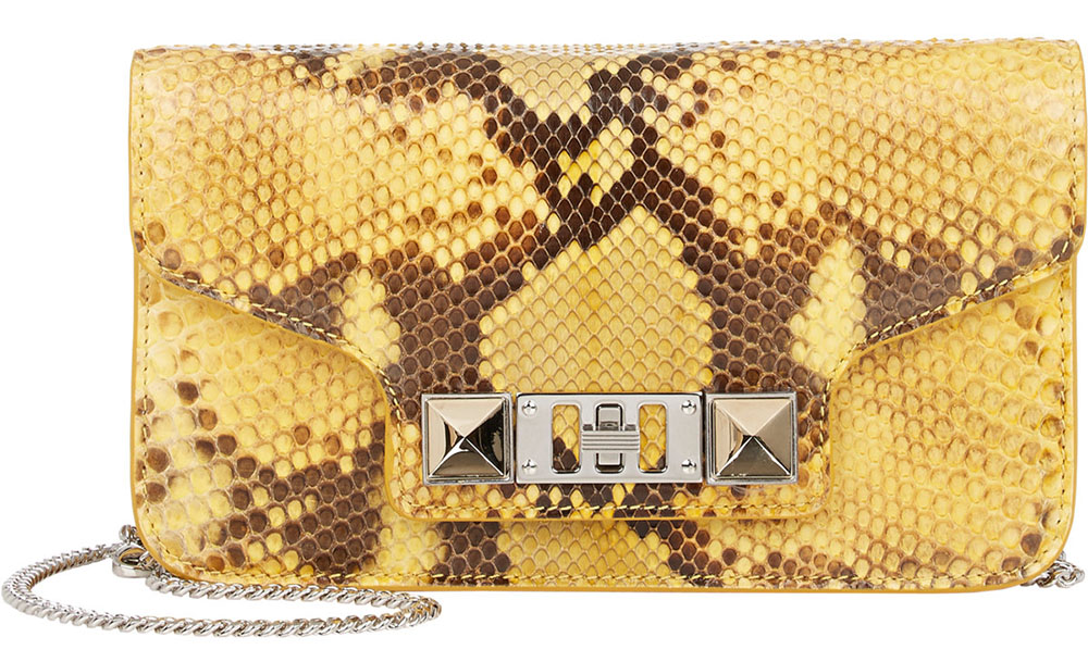 PROENZA SCHOULER Python PS11 Crossbody Chain Wallet