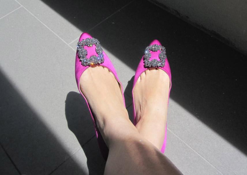 Pink Manolo Blahniks
