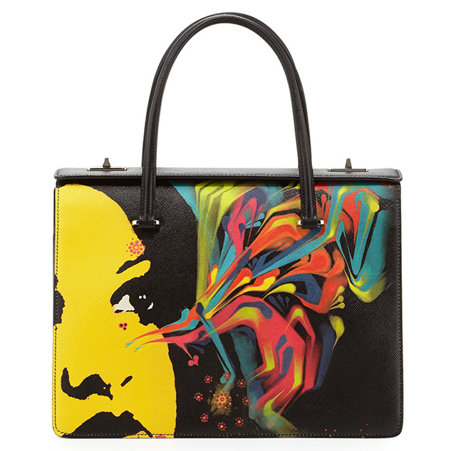 Prada-Saffiano-Girl-Print-Bag-Black