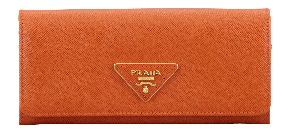 04121e21b86e Prada Saffiano Triangle Continental Flap Wallet - PurseBlog