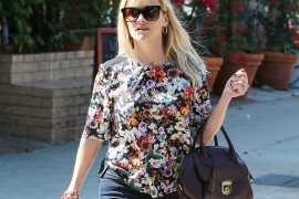 Reese Witherspoon Picks Up Takeout with a Ferragamo Fiamma Bag