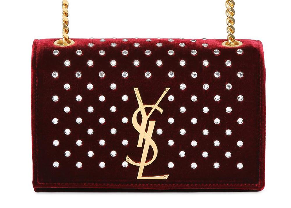 Saint Laurent Monogramme Velvet Bag