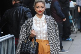 Sarah Hyland Goes for a Full-On Fashion Person Look with a Dior Bag