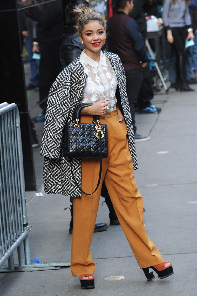 Sarah Hyland Christian Dior Lady Dior Bag-4