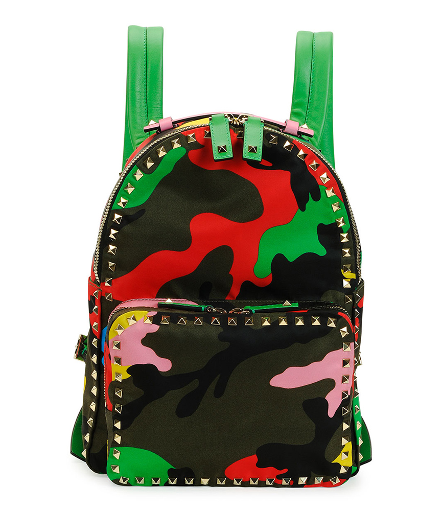 Valentino Psychedelic Camo Rockstud Backpack