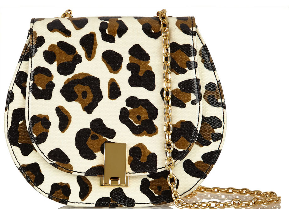 ZAC ZAC POSEN Loren leopard-print textured-leather shoulder bag