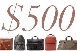 5 Under $500: Bags for Men