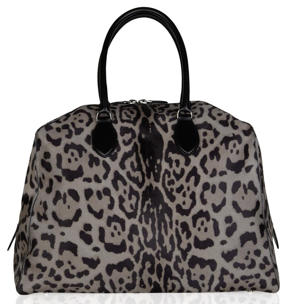 Alaia Calf Hair Leopard Bag