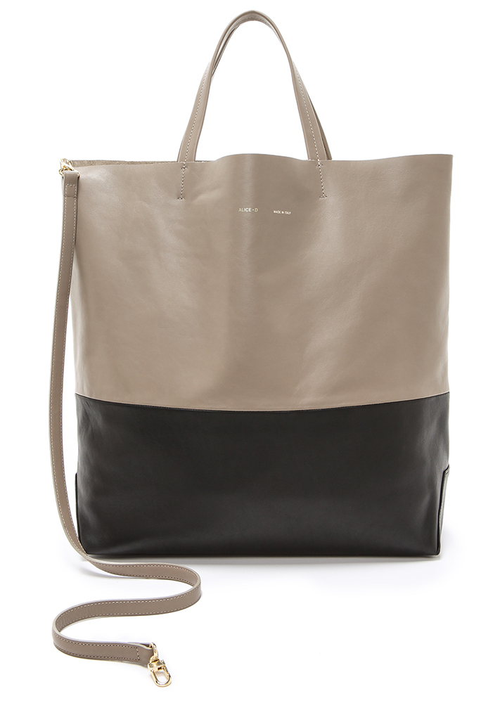Alice.D Bicolor Leather Tote