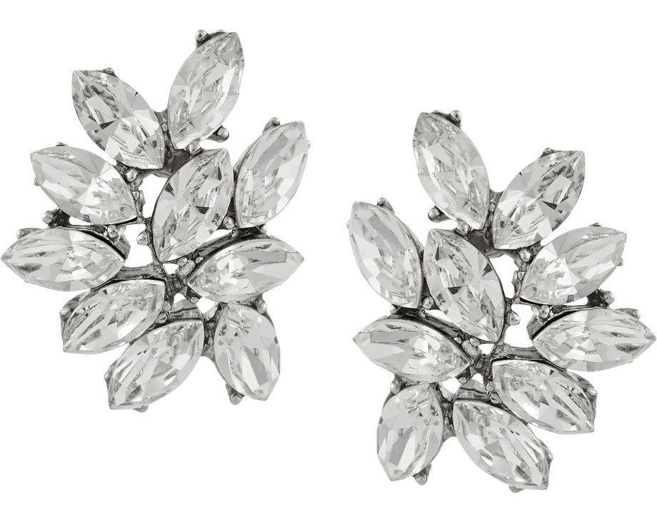 Ben-Amun Silver Plated Swarovski Earrings