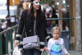 Bethenny Frankel Juggles a Mask, Dog, Child and Chanel Bag
