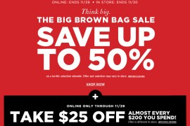 Bloomingdale's: Up to 50% Off at the Big Brown Bag Sale for Black Friday 2014