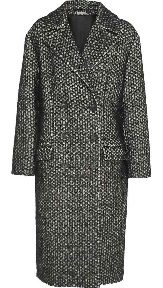 Bottega Veneta Brushed Jacquard Coat