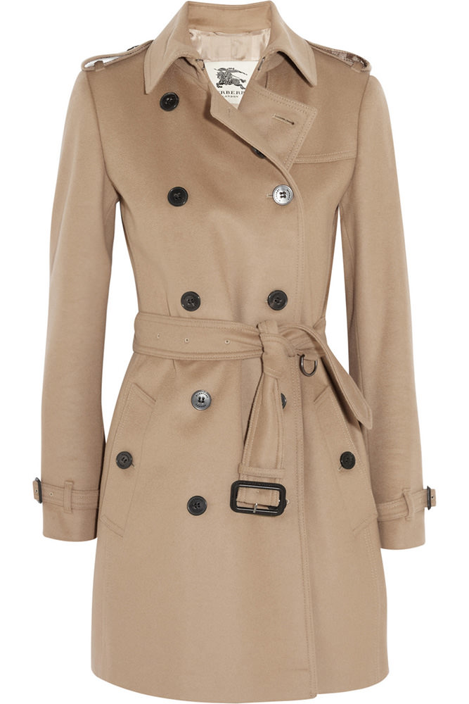 Burberry Wool and Cashmere Trench Coat