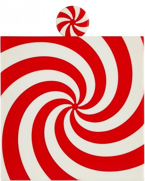 CHARLOTTE OLYMPIA Swirl Perspex clutch
