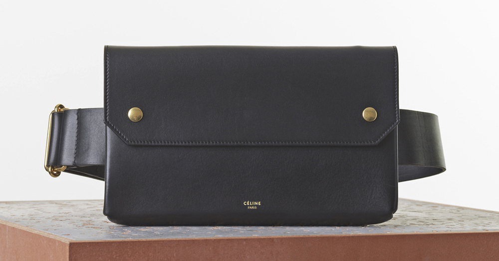 Celine Bum Bag Black Natural Calf 1900