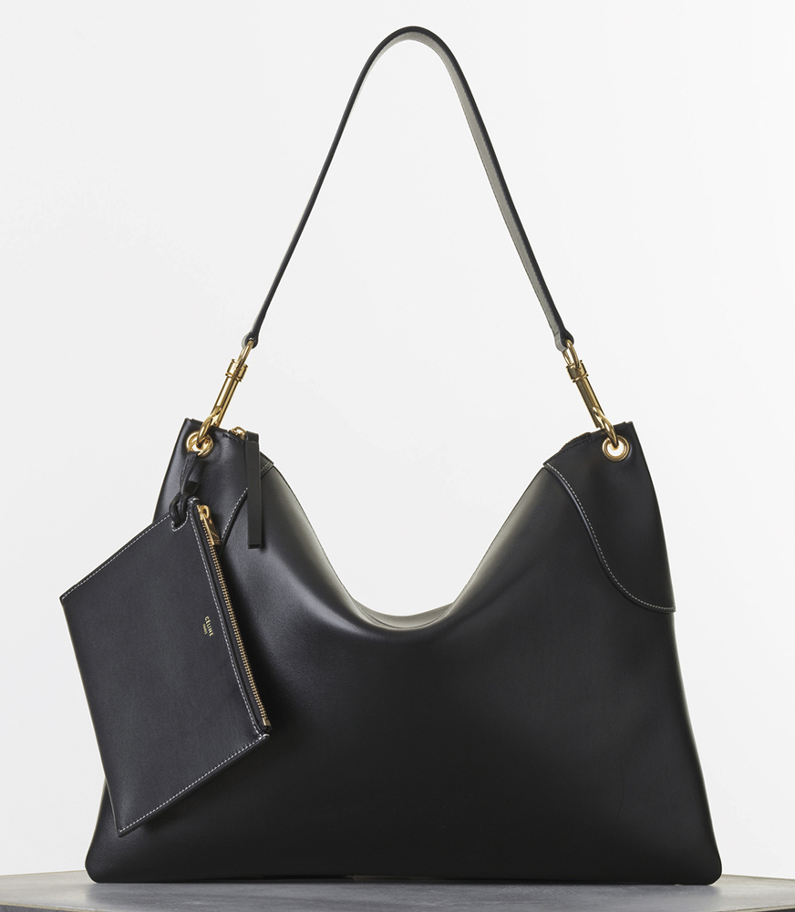 Celine FlatBag Black Natural Calf 2350