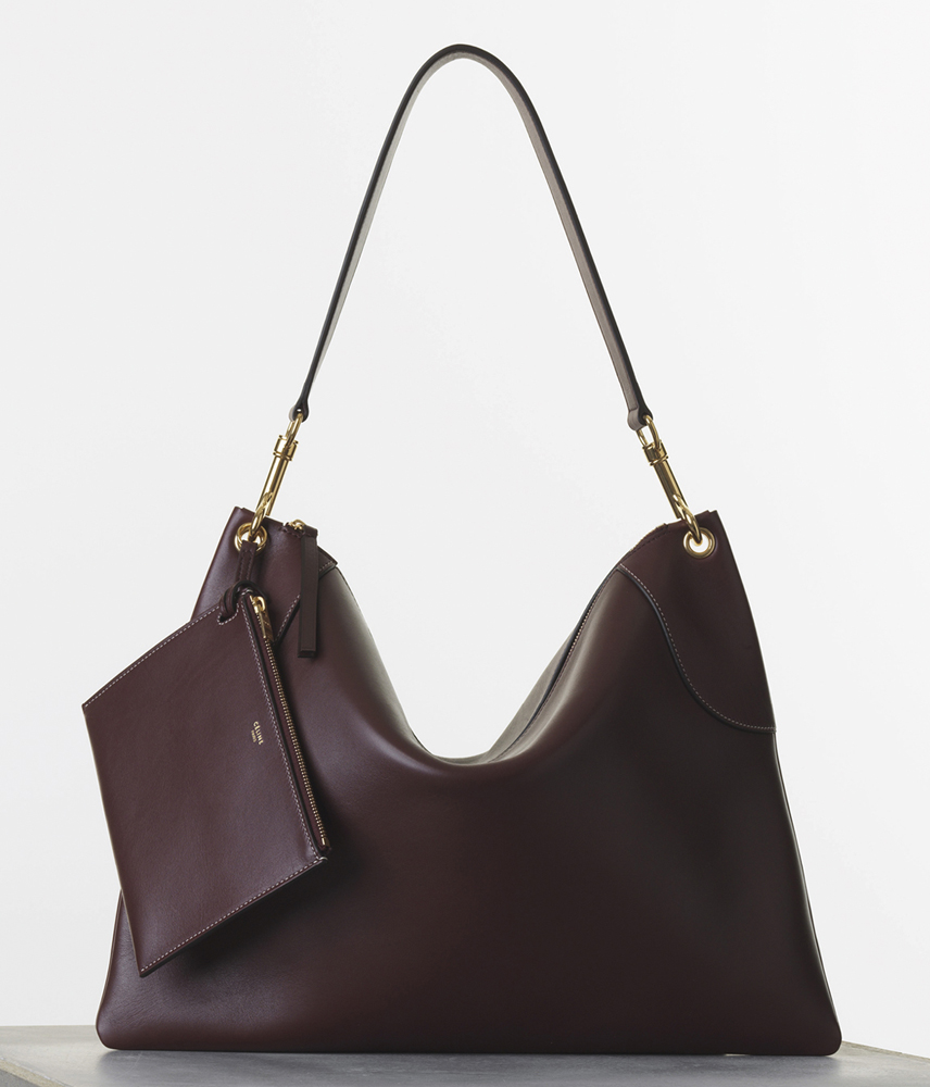 Celine Flatbag Bugundy Natural Calf 2350