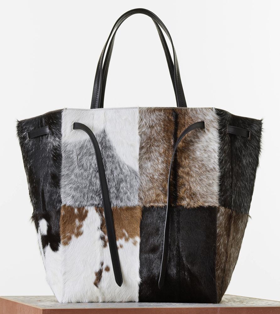 Celine Goat Fur Phantom Cabas Tote 3100