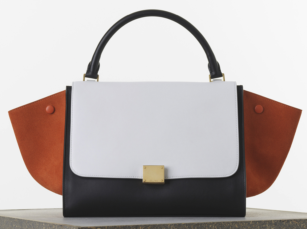 Celine Medium Tricolor Trapeze Bag Smooth Calf 2950